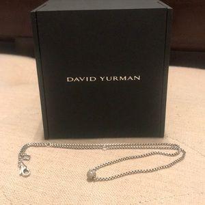 David Yurman Petite Diamond Pave Ball Necklace